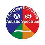 """Autistic Spectrum Symbol 3.5"""" Button (100 Pac"""