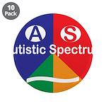 """Autistic Spectrum symbol 3.5"""" Button (10 pack)"""