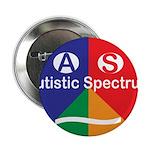 """Autistic Spectrum symbol 2.25"""" Button (10 pack)"""