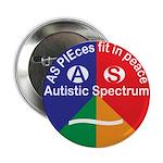 """Autistic Spectrum symbol 2.25"""" Button"""