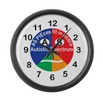 Autistic Spectrum symbol Large Wall Clock