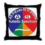 Autistic Spectrum symbol Throw Pillow