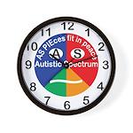 Autistic Spectrum symbol Wall Clock