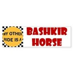 My Other Ride Is A Bashkir Horse Bumper Sticker