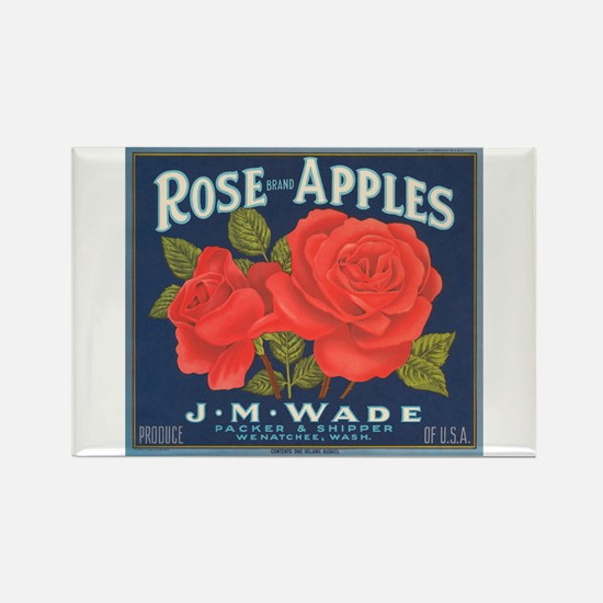 Rose Apples Rectangle Magnet
