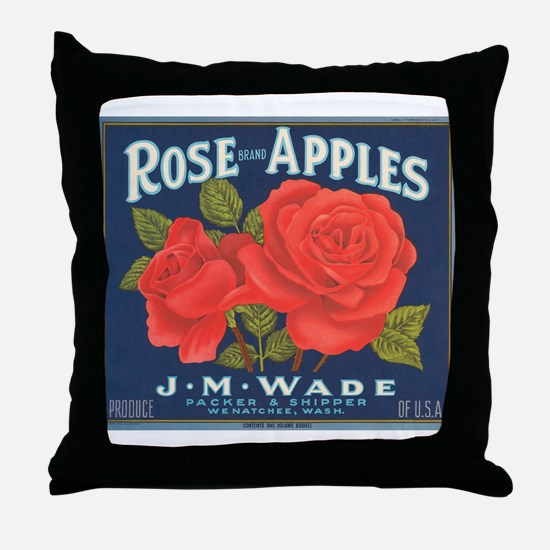 Rose Apples Throw Pillow