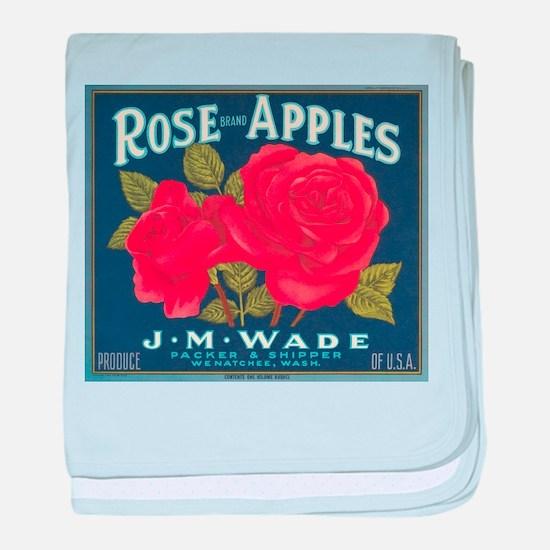 Rose Apples baby blanket