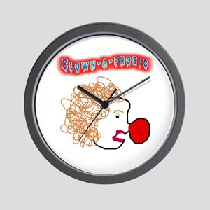 Clown -a- phobic Wall Clock