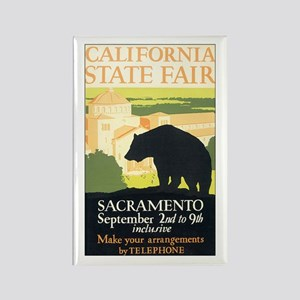 California Bear Rectangle Magnet