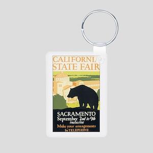California Bear Aluminum Photo Keychain