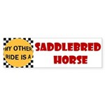 My Other Ride Is A Saddlebred Horse Sticker (Bumpe