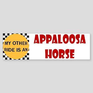 My Other Ride Is An Appaloosa Horse Bumper Sticker