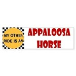 My Other Ride Is An Appaloosa Horse Bumper Sticker