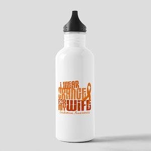 I Wear Orange 6.4 Leukemia Stainless Water Bottle