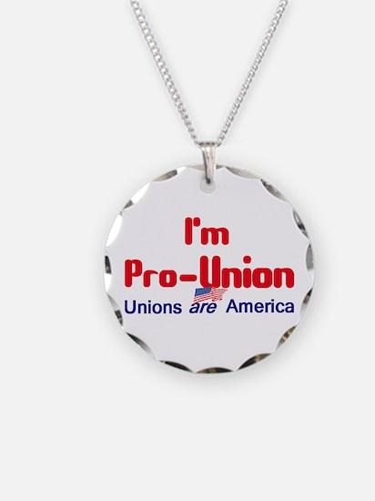 Pro Union Necklace Circle Charm