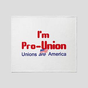 Pro Union Throw Blanket
