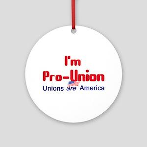 Pro Union Ornament (Round)