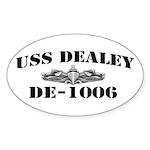 USS DEALEY Sticker (Oval)