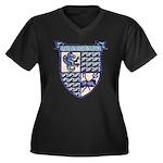 USS DEALEY Women's Plus Size V-Neck Dark T-Shirt