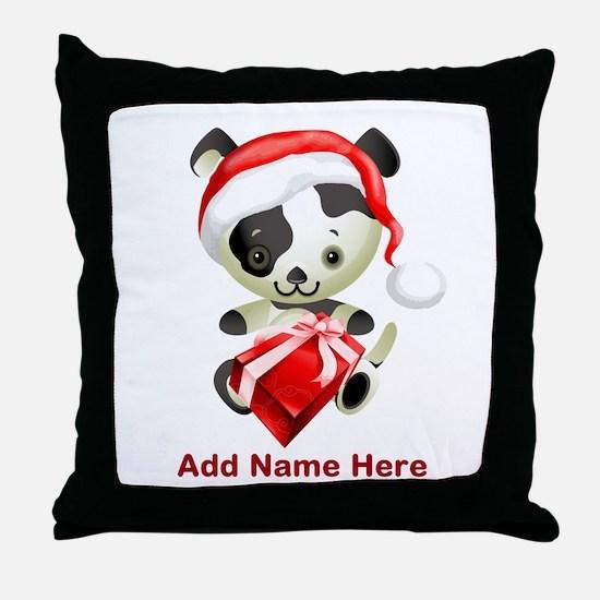 Christmas Santa Dog Throw Pillow