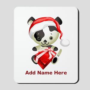 Christmas Santa Dog Mousepad