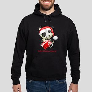 Christmas Santa Dog Hoodie (dark)