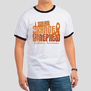 I Wear Orange 6.4 Leukemia Ringer T