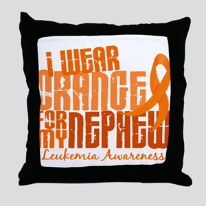 I Wear Orange 6.4 Leukemia Throw Pillow
