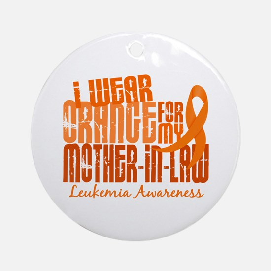 I Wear Orange 6.4 Leukemia Ornament (Round)