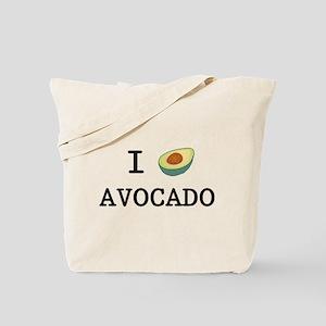 I Love Avocado Tote Bag