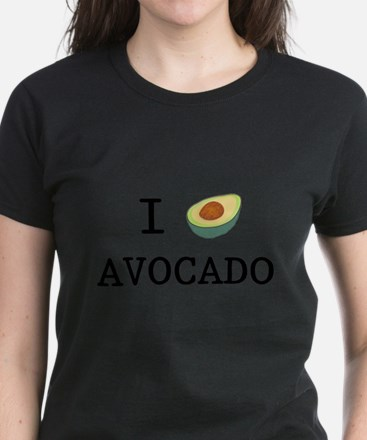 I Love Avocado Women's Dark T-Shirt