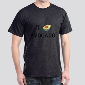 I Love Avocado Dark T-Shirt