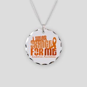 I Wear Orange 6.4 Leukemia Necklace Circle Charm