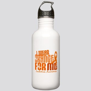 I Wear Orange 6.4 Leukemia Stainless Water Bottle