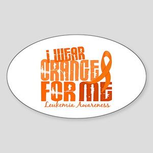 I Wear Orange 6.4 Leukemia Sticker (Oval)
