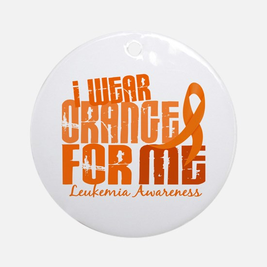 I Wear Orange 6.4 Leukemia Ornament (Round)