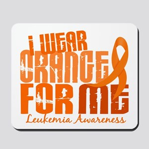 I Wear Orange 6.4 Leukemia Mousepad