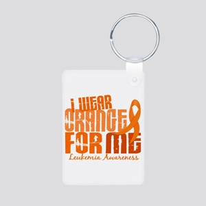 I Wear Orange 6.4 Leukemia Aluminum Photo Keychain