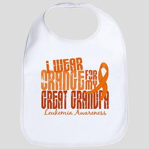I Wear Orange 6.4 Leukemia Bib