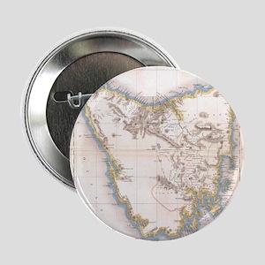 """Vintage Map of Tasmania (1837) 2.25"""" Button"""