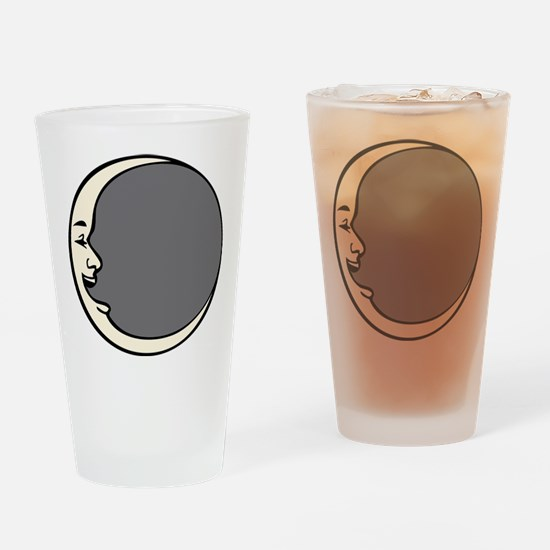Crescent Face Moon Circle Pint Glass