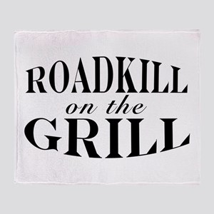 Roadkill on the Grill BBQ Throw Blanket