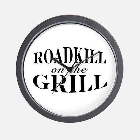 Roadkill on the Grill BBQ Wall Clock