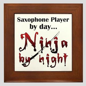 Saxophone Ninja Framed Tile