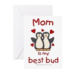 Mom is my best bed Greeting Cards (Pk of 10)