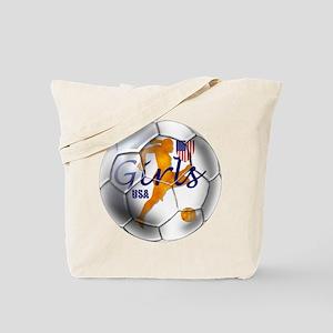 US Girls Soccer Ball Tote Bag