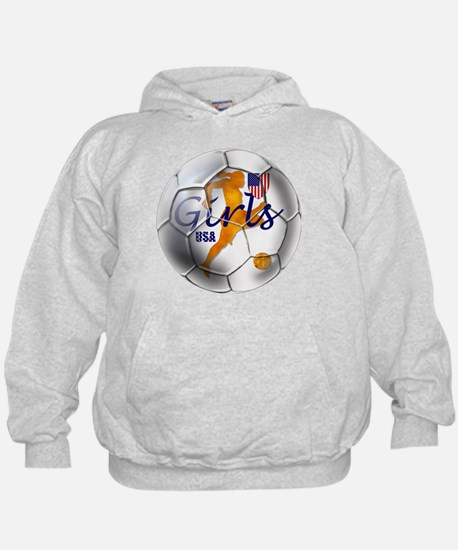 US Girls Soccer Ball Hoody