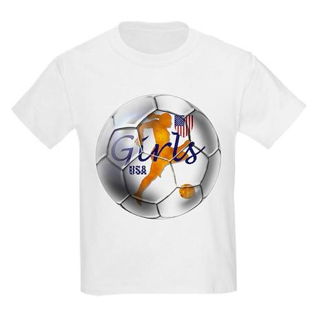US Girls Soccer Ball Kids Light T-Shirt