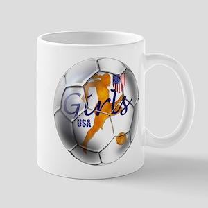 US Girls Soccer Ball Mug