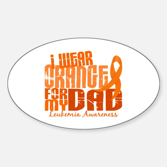 I Wear Orange 6.4 Leukemia Sticker (Oval)